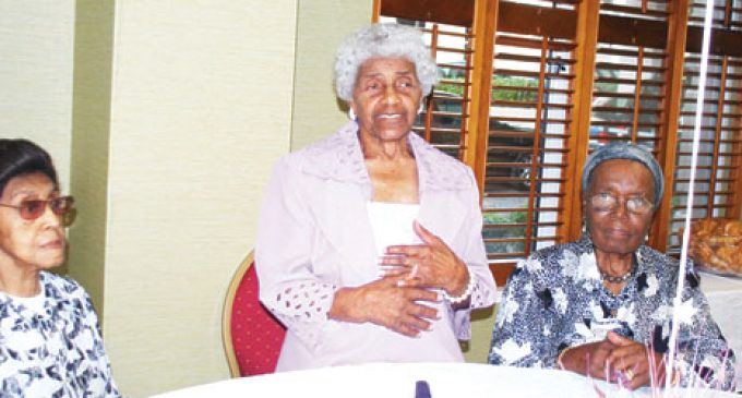 109-year-old lauded at party