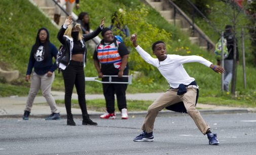 Riots erupt after the funeral of Baltimore man who died in police custody