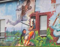 Dominican artists create murals in Davidson County