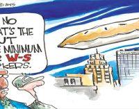 Editorial cartoon: Minimum wage increase for Winston-Salem city workers?
