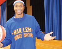 Globetrotter tells students to stand against bullying