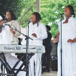 Pastor George Pass and Nu perform.