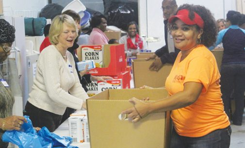 Organizations unite to provide food to families