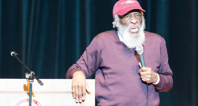 King expected death, Dick Gregory tells Winston-Salem audience