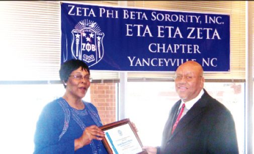 Bishop receives Zeta award