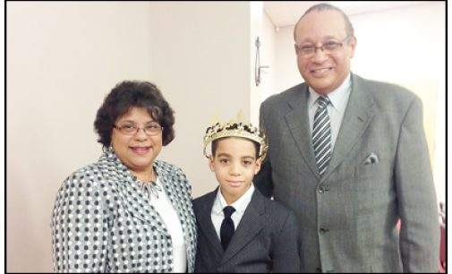 Local boy crowned  AME king