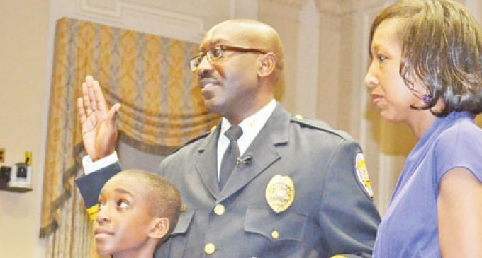City's second black police chief takes oath