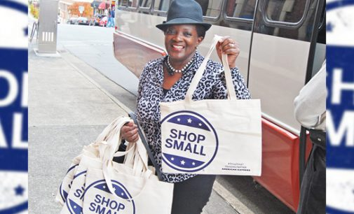 Customers shop local on Small Business