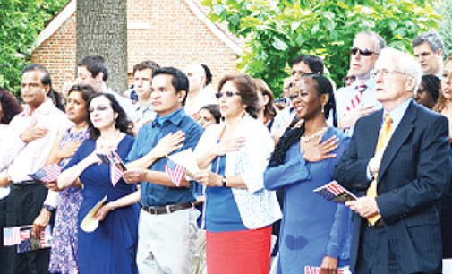 Naturalization Ceremony tomorrow at Old Salem