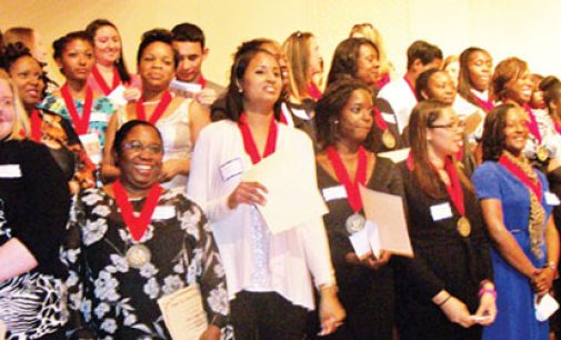 Health students inducted into honor society