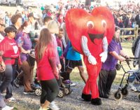 Several honored at heart walk