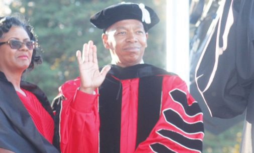 Robinson promises  growth as he is installed as WSSU chancellor