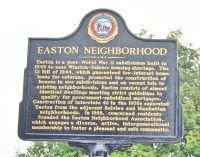 Easton historic marker unveiled