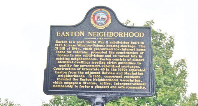 Easton historic marker unveiled