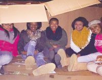 Residents sleep outside to bring awareness to area homelessness