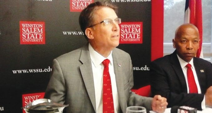 Gov. McCrory makes pitch for bond plan that backs WSSU project