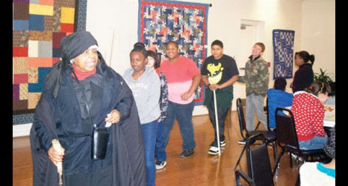 Students travel back in time at gallery