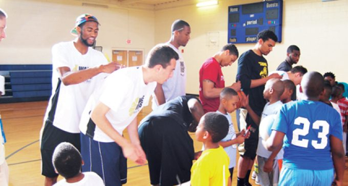 Surprise visit by Wake ballers delights kids