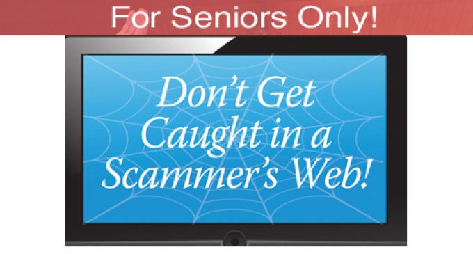 "For Seniors Only! : Looking for work online? Don't get caught in a scammer's ""web""!"