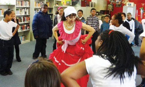 C.G. Woodson students work on multi-cultural showcase