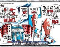 Editorial Cartoon: Uncounted Ballots