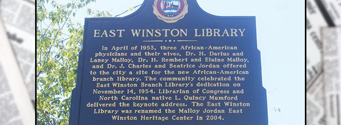 Malloy/Jordan library branch celebrated with historic marker