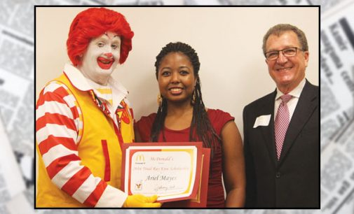 Local youth wins scholarship for tuition from McDonald's
