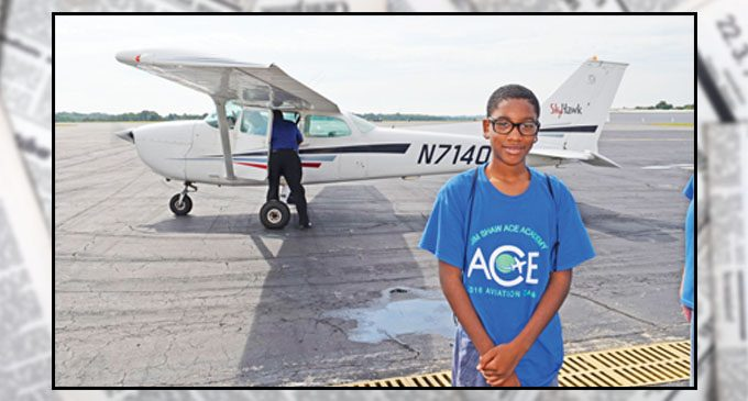 Young pilots take flight in aviation camp