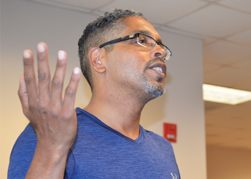 Forsyth County Democratic Party Chair Eric Ellison was among the many who asked for WSSU early voting in last week's meeting.