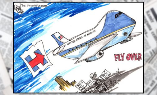 Editorial Cartoon: Fly Over