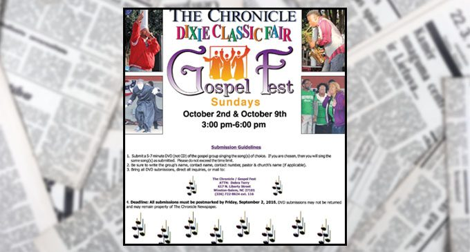 Gospelfest submissions accepted now until September 2nd