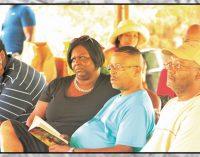 Church takes Bible study outside