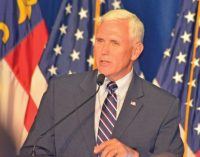 VP candidate Mike Pence stumps for Trump in W-S