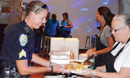 Local businesses show cops appreciation
