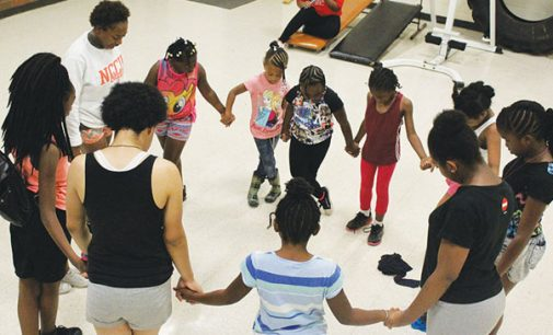 Cheerleading camp exposes young girls to the basics