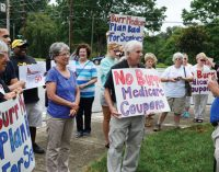 Protest focuses on Burr's Medicare history