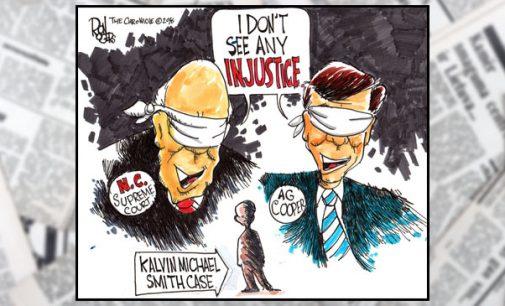 Editorial Cartoon: See No Injustice…