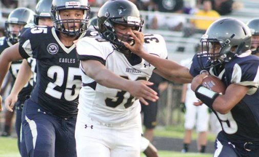 Reynolds prevails after surviving early punch from East Forsyth