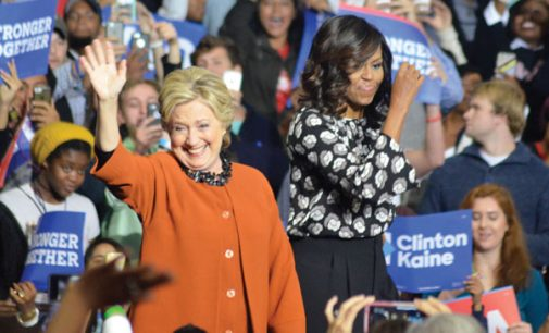 Hillary Clinton and first lady appear together in W-S