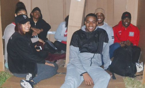 WSSU students sleep in boxes to wrap up Homelessness Awareness Week on campus
