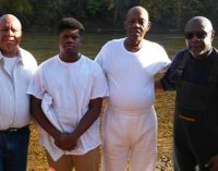 Church baptizes two in river