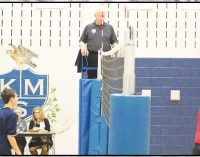 Kernersville overwhelms Prep in boys' middle school volleyball