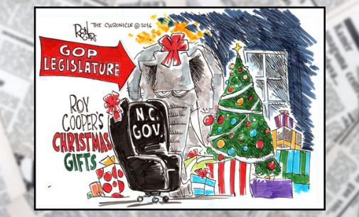 Editorial Cartoon: Roy Cooper's Christmas gifts