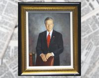 Portrait of Mayor Allen Joines unveiled
