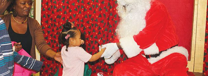 Santa Claus is sighted at W.R. Anderson rec center