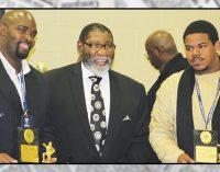 Union Baptist's football league awards trophies