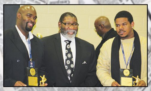 Union Baptist's football league awards trophies