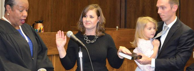 Vickery sworn in as district court judge