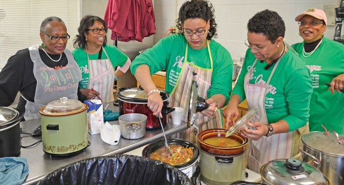 AKAs serve hundreds after Noon Hour service