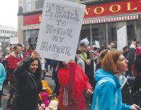Tens of thousands of women protest Trump across N. C.